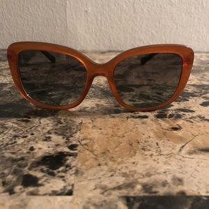 Coach HC8229 55028E Amber Rectangle Sunglasses